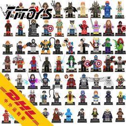 Wholesale 70PCS New Building Blocks Super Heroes Minifigures Raven Mystique Iron Man Mark MK37 Red Skull Winter Soldier Shazam Mini Figures