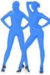 2017 trajes de cuerpo de spandex al por mayor Todo el cuerpo azul oscuro Lycra Spandex Zentai Suit Factory Precio al por mayor económico trajes de cuerpo de spandex al por mayor