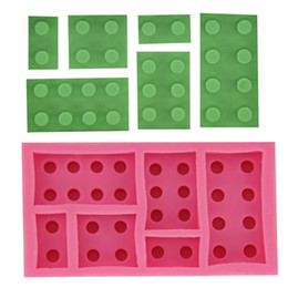 Building Blocks Silicone Fondant Cake Mold Soap Candle Mold Chocolate Candy Mould Moulds DIY Decorating Baking Pink Kitchen Tools