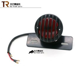 Wholesale CNC Black Aluminum Motorcycle Tail Light Brake Lamp for Harley Motorcycle Motorbike Scooter High Quality Retro Type