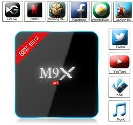 Wholesale M9X M3 S912 Octa Core Android TV Box GB GB Android Marshmallow G WIFI M LAN K Kodi Media Player H96 Pro Plus