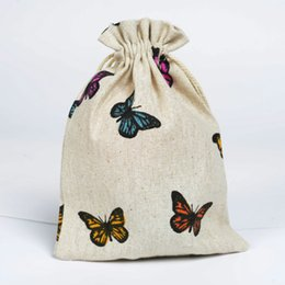 Cute Design Cotton Linen Bags For Wedding And Festive Parties Gift And Cindy Used Hand Made Jewelry Packaging Pouches