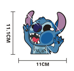 Wholesale Cartoon character stitch stickers car automobile motorcycle stick luggage laptop stickers hot car stickers