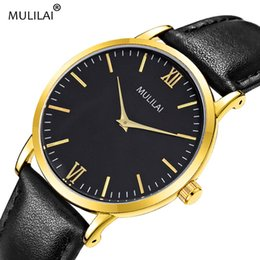 Korean luxury watch leather belt men's business Gent watch quartz leather strap Swiss classic M8702 wholesale free shipping