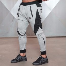 Descuento al por mayor de la ingeniería Venta al por mayor-Nueva medalla de oro de fitness pantalones elásticos ocasionales, estiramiento de algodón hombres Pantalones Body Engineers Jogger