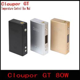 Cloupor gt en Ligne-Vente en gros 100% de cigarettes électroniques Cloupor GT 80W Mods Dual 18650 batterie de contrôle de température Mod Mod pour e cigarettes Atomiser (1PC YY)