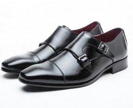 2017 chaussures robe de moine Hommes chaussures casual chaussures de luxe en cuir véritable entreprise formelle chaussures hommes robe brogues oxfords monk sangle chaussures hombre abordable chaussures robe de moine