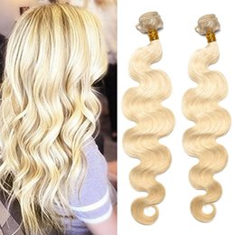 BEAUTY HAIR Brazilian Body Wave Remy Hair Weft 613 Blonde 8inch To 24inch 200g lot Human Hair Weave Bundles Free Shipping