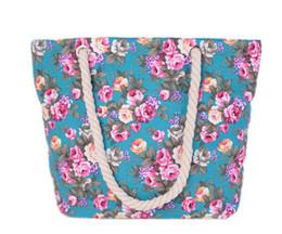 Promotion chaîne grand sac 2017 fleurs d'impression sacs à provisions de toile sacs à bandoulière de grande taille sacs de chaîne de coton occasionnels pour les filles MN196