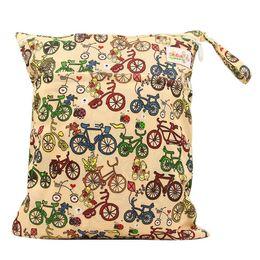 OhBabyKa Baby Nappy Bags Reusable Diaper Bags Double Zipper Wet Bags Diaper Backpack Waterproof Character Baby Changing Bag