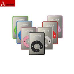 Mp3 mémoire lecteur 1gb en Ligne-Vente en gros Mini Miroir Pas d'écran MP3 Clip Plugin Carte Smart Music Player Portable Sports Loisirs Perfect Sound Lecteur MP3 Memory Play