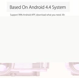 Promotion quad lcd Portable Q5 Quad-core Android 4.4 Wifi LCD Projecteur 800 x 480 pixels avec Miracast WiFi Bluetooth 4.0 1080P Protable Projecteur