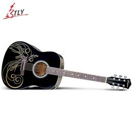 Wholesale High Quality SAYSN quot quot Basswood Guitar Art Acoustic Guitar