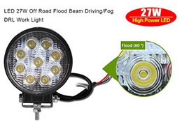 4Inch 27W Round LED Work Light Spot Beam Off Road Driving Light Fog Light Waterproof for Truck Car ATV SUV Jeep Boat 4WD ATV