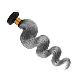 Hot Selling Virgin Hair Weaves 12-28 inch Optional Ombre Curly Hair Bundles T1B Gray 100% Unprocessed Indian Human Hair Extensions
