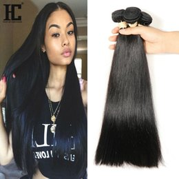 2017 natural hair wholesale india Pelo humano brasileño sin procesar 4 pelota de trama de las virutas al por mayor Extensiones rectas del pelo humano de la India india malasia peruana económico natural hair wholesale india