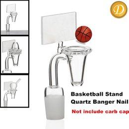 Wholesale Cool Conical BasketBall Stand Quartz Banger Nail Backboard Quartz Nail Novel Domeless Quartz Nail Female Male Joint Available at DUDU8868