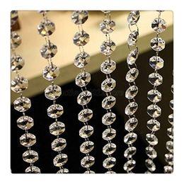 Promotion tableau acrylique clair 3.3 pieds Crystal Clear acrylique perles chaîne acrylique Crystal Garland Suspendre diamant lustre mariage fournitures Party Table Decoration