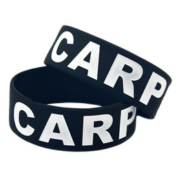 50PCS Lot 1 Inch Wide Band Carpe Diem Time To Seize The Day Silicone Wristband Classic Decoration Bracelet