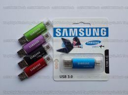 Wholesale 16GB GB GB GB GB Samsung OTG usb flash drive USB3 pendrive Real capacity OTG flash Memory stick U disk
