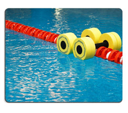 Wholesale Floating aqua aerobics dumbbells in swimming pool Mouse Pad Customized Game Mouse mat Rectangle mouse mat