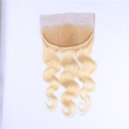 RESIKA HAIR Brazilian Remy Human Hair 613 Blonde Lace Frontal Closure Free Part Body Wave 13x4 Bleached Knots Baby Hair