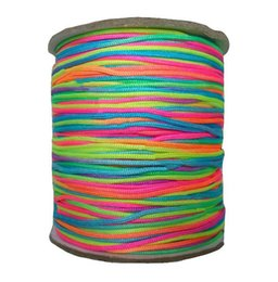 1mm Rainbow Nylon Cord Rattail Braid Cord Macrame Rope Shamballa Bracelet Beading Cord Chinese knot String Accessories 350m Roll
