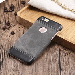 Stick PU Leather circular hole Denim Pattern Matte Case for Apple iPhone6 6s 4.7