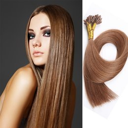Hot Selling U Tip Pre-bonded Straight Brazilian Hair Extensions 1g Strand 50PCS Human Hair Extensions Free Shipping 10 Color 16-22 inch