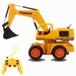 Wholesale CH RC hydraulic excavator wireless remote control toys Children s RC truck toys gifts rc tractor truck bulldozer brinquedos