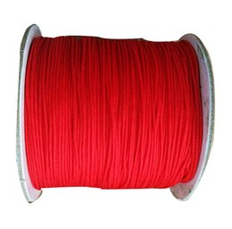 0.8mm Red Rattail Braid Nylon Cord+Jewelry Accessories Beading Macrame Rope Shamballa Bracelet Chinese Knot String 200m=1Roll