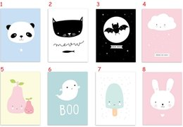 Kawaii Lovely Animal Poster Print (No Frame) Modern Nordic Cartoon Nursery Giclee Wall Art Picture Kids Baby Room Decor Canvas Painting