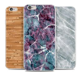 Wholesale Mobile phone protection shell Mobile phone cases For Apple iPhone plus mobile phone sets of apple soft shell plus marble wood grain seri