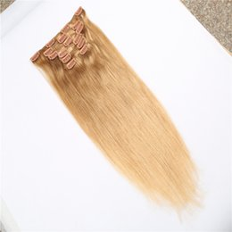 Wholesale Price Clip in Hair Blonde 8a Remy Malaysian Hair Extensions Fashion Products Unprocessed Peruvian Hiar Best Price Fast Shipping