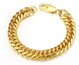 Wholesale Special offers k gold jewelry Personality man cool bracelet long lasting color preserving allergy three size can choose