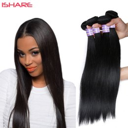 2017 paquetes brasileños remy 1b Peruvian Indian Malaysian Mongolian Cambodian Brasileña Virgen Straight Hair Weave Bundles Remy Pelo Humano Natural Color 1B paquetes brasileños remy 1b en venta