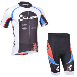 Descuento cubo bibs ciclismo Cycling Jersey sets 2017 equipo CUBE ciclismo ropa maillot ciclismo Manga corta Ropa ciclismo hombre MTB bici jersey + Bib Shorts