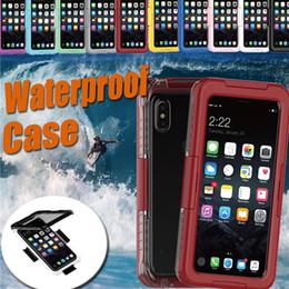 Waterproof Cases Water Resistant Shockproof Underwater Diving Full Cover Dustproof Bag Case For iPhone X 8 7 Plus 6S Samsung Note 8 S8 S7