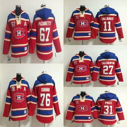 Wholesale Mens Sweatshirts Montreal Canadiens Carey Price Brendan Gallagher Alex Galchenyuk Max Pacioretty P K Subban Hockey Jersey