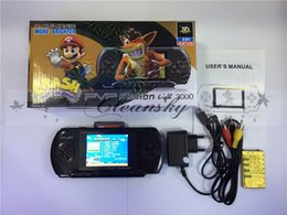 Wholesale Free DHL Portable pvp bit Game Player Pocket Game with Free Game Card AV Cable Charging Retail Packaging Built in Classical Games M538
