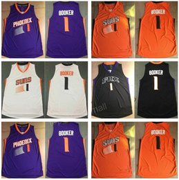 Wholesale 2017 New Hot Devin Booker Jersey Phoenix Basketball Jerseys BOOKER All Stitched Purple Orange Black White Men Good Quality