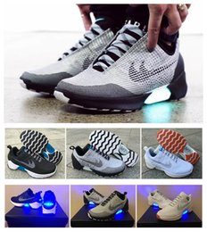 Wholesale 2017 HyperAdapt Lighting Mags Mens Running Shoes Grey White Air Mags Future Shoes Back To Future Shoes Without Auto Lacing