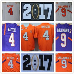 Wholesale 2017 College playoff Clemson Tigers Diamond DeShaun Watson Artavis Scott Mike Williams Wayne Gallman II Ben Boulware S XL
