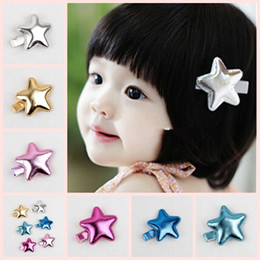 Gold star hair clips,baby girl gold ,baby hair accessory,hair barrette,kids ,toddler hair clips 6 colors