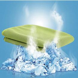 Descuento bufanda para el frío Los deportes fríos del verano de la toalla se refrescan la venda Headband los 30 * 100cm del Wristband del lazo del cuello del cojín de las bufandas de la toalla de las toallas para el envío libre adulto de los niños de los deportes