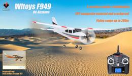 Venta al por mayor-Wltoys F949 Avión 2.4G 3 Coreless Motors RC Aeroplano Avión de Larga Distancia Avión de ala fija al aire libre Indoor helicóptero RC Juguetes desde distancia de vuelo fabricantes