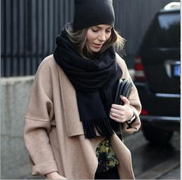 Descuento mejores bufandas de moda Bufandas largas de la nueva manera 2016 hombres chinos de las mujeres del invierno trenzaron el mantón llano del abrigo de la bufanda del punto Bufandas superventas de la cachemira