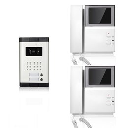 Wholesale wired video door phone inch handset intercom apartments rainproof and night vision