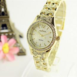 2017 New Fashion Women Luxury Watch Golden Stainless steel High Quality Male Quartz watches