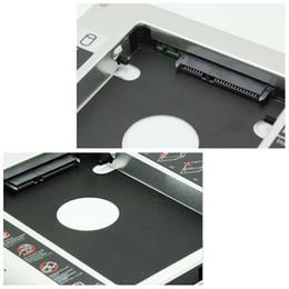Una caja portadiscos disco en Línea-Nuevo SATA caliente a SATA 2do HDD Caddy 9.5mm para la bahía del recinto de la impulsión de disco duro del caso de 9.5mm SSD para el cuaderno ODD DVD Optibay CD-Rom